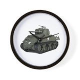 Army tank Wall Clocks