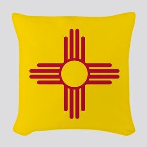 Flag of New Mexico Woven Throw Pillow