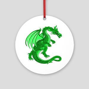Green Dragon Ornament (Round)
