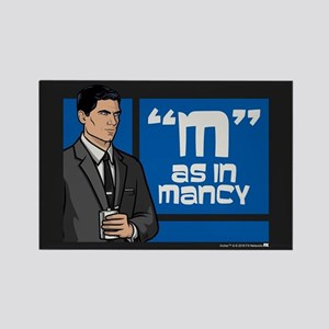 Archer Mancy Rectangle Magnet