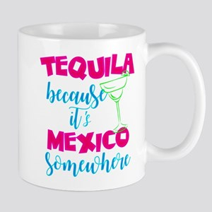 Neon Tequila Margarita Mexico Blacklight Mugs