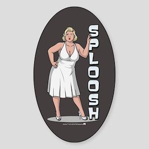 Archer Pam Sploosh Sticker (Oval)