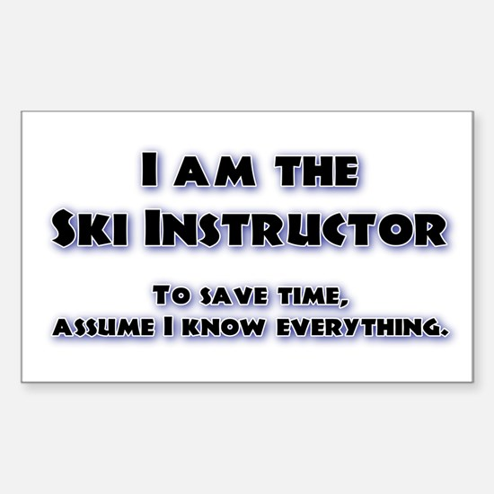 Ski Instructor Rectangle Decal