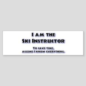Ski Instructor Bumper Sticker