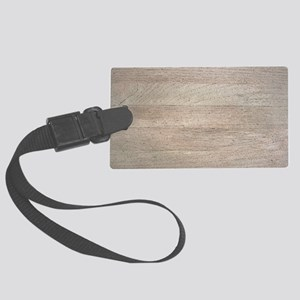 Sun-Bleached Teak Boards Luggage Tag