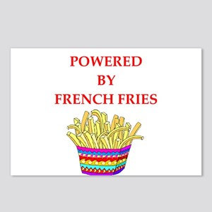 french fries Postcards (Package of 8)