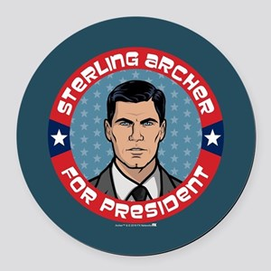 Archer Sterling Archer for Presid Round Car Magnet