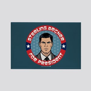 Archer Sterling Archer for Presid Rectangle Magnet