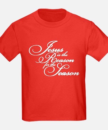 Jesus is the reason - white T-Shirt