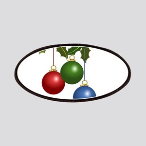 Multi Colored Christmas Balls Holly copy Patch