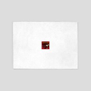 Kamikaze (Red) 5'x7'Area Rug