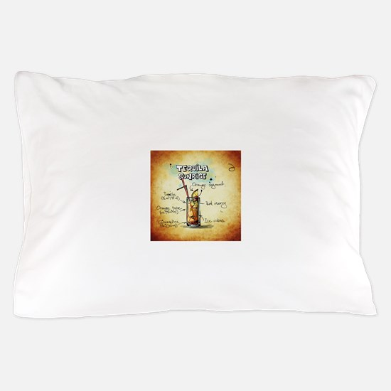 Tequila Sunrise (Brown) Pillow Case