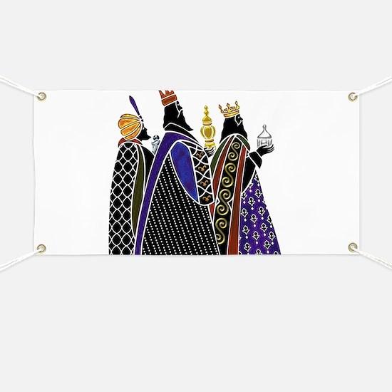 Three Magi Bearing Gifts Banner