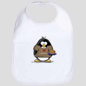 I Love Latkes Penguin Bib