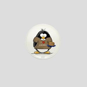 I Love Latkes Penguin Mini Button