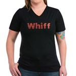 Whiff Women's V-Neck Dark T-Shirt