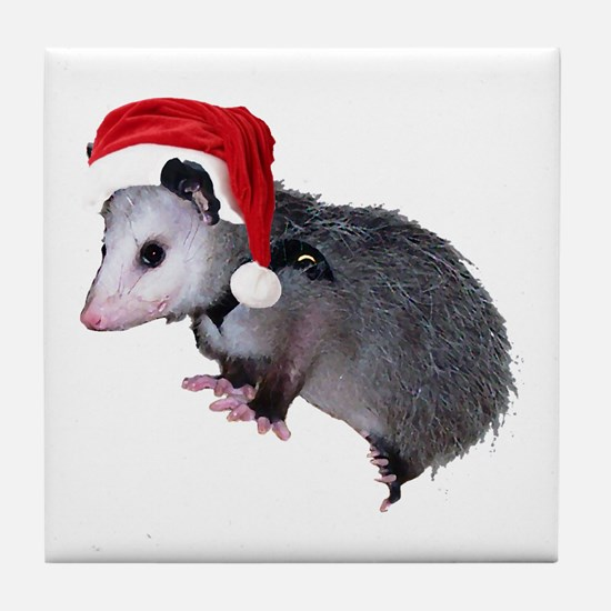 Santa Possum Tile Coaster