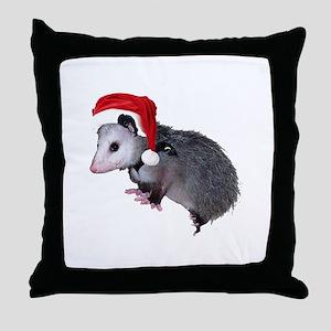 Santa Possum Throw Pillow