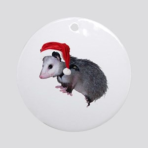 Santa Possum Ornament (Round)