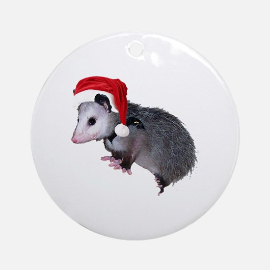 Santa Possum Ornament (Round)