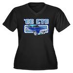 1966 Pontiac GTO Women's Plus Size V-Neck Dark T-S