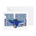 1966 Pontiac GTO Greeting Cards (Pk of 10)