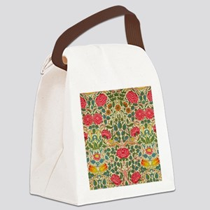 Rose Chintz Pattern Colorful Canvas Lunch Bag