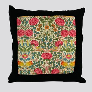 Rose Chintz Pattern Colorful Throw Pillow