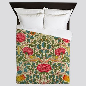 Rose Chintz Pattern Colorful Queen Duvet