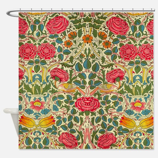 Rose Chintz Pattern Colorful Shower Curtain