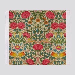 Rose Chintz Pattern Colorful Throw Blanket