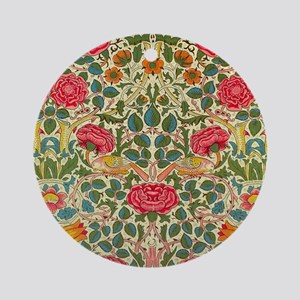 Rose Chintz Pattern Colorful Round Ornament
