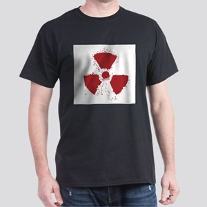Splatter Radioactive Warning Symbol T-Shirt