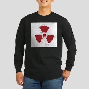 Splatter Radioactive Warning S Long Sleeve T-Shirt