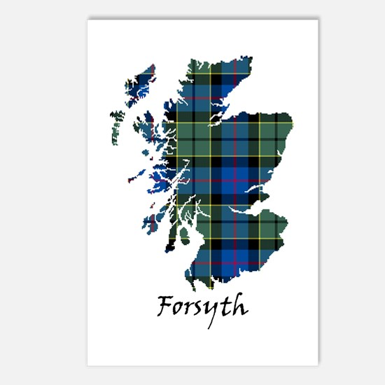 Map - Forsyth Postcards (Package of 8)