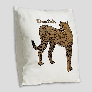 Cheetah Burlap Throw Pillow