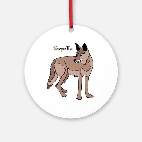 Coyote Round Ornament