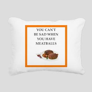 meatballs Rectangular Canvas Pillow