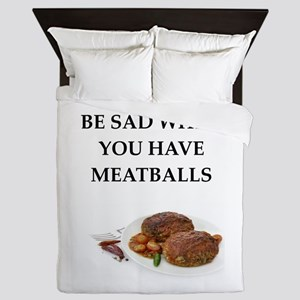 meatballs Queen Duvet