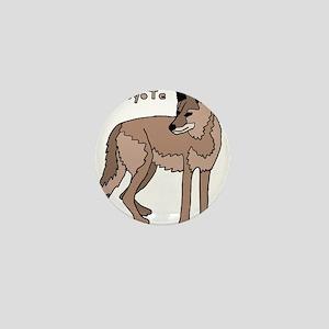 Coyote Mini Button