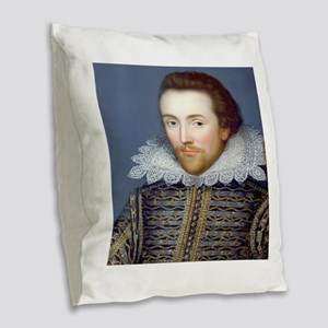 Shakespeare Burlap Throw Pillow