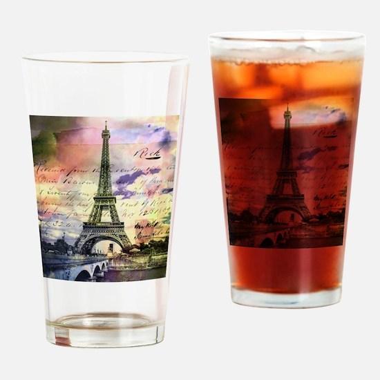 Paris Eiffel Tower Design Drinking Glass
