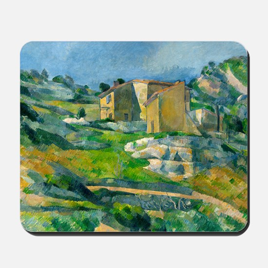 Houses in Provence by Paul Cézanne Mousepad