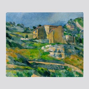 Houses in Provence by Paul Cézanne Throw Blanket