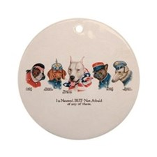 Patriotic Dogs WW1 English Bu Ornament (Round)