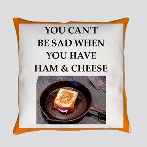 ham and cheese Everyday Pillow