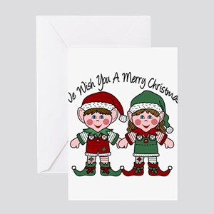 WE WISH YOU ELVES Greeting Card