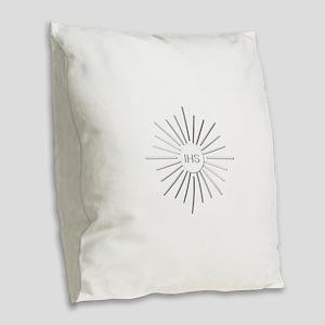 The Holy Eucharist Burlap Throw Pillow