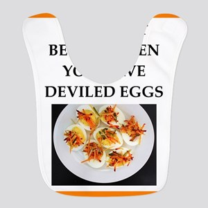 deviled eggs Polyester Baby Bib