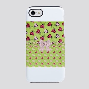 Pink and Red Ladybugs iPhone 8/7 Tough Case